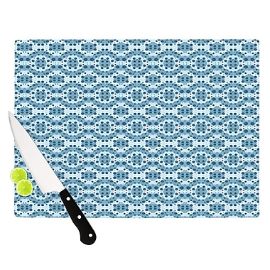 KESS InHouse Blue Circle Abstract by Empire Ruhl Geometric Cutting Board