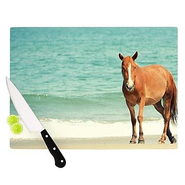 KESS InHouse Wild Mustang of Carova by Robin Dickinson Horse Ocean Cutting Board