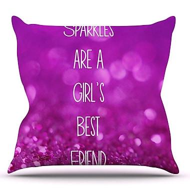 KESS InHouse Sparkles are a Girls Best Friend by Beth Engel Glitter Throw Pillow