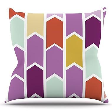 KESS InHouse Orchid Geometric Chevron by Pellerina Design Arrows Throw Pillow