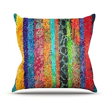 KESS InHouse Stained Glass Batik Mosaic Stripe by Catherine Holcombe Throw Pillow