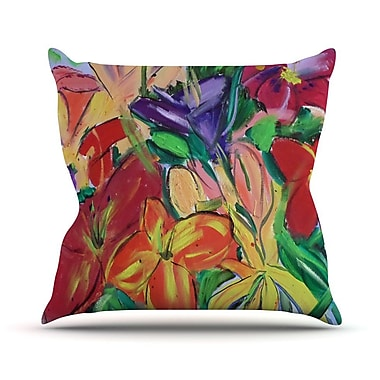 KESS InHouse Matisse Styled Lillies by Cathy Rodgers Rainbow Flower Throw Pillow