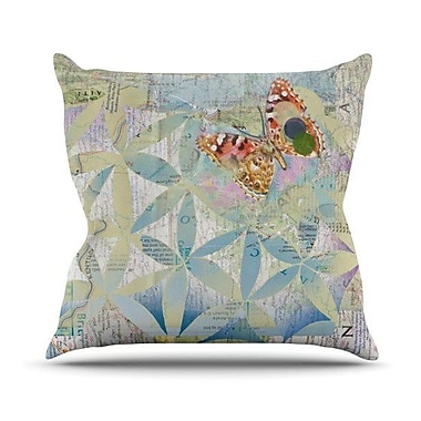 KESS InHouse Miraculous Recovery by Catherine Holcombe Butterfly Throw Pillow