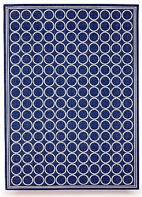 BudgeIndustries Shelbourne Royal Blue Indoor/Outdoor Area Rug; 5' x 7'