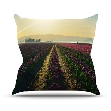 KESS InHouse Here Comes The Sun by Robin Dickinson Flower Landscape Throw Pillow