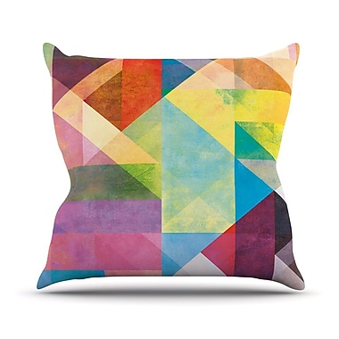 KESS InHouse Color Blocking II by Mareike Boehmer Rainbow Abstract Throw Pillow