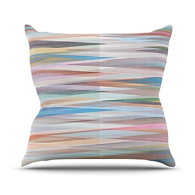 KESS InHouse Nordic Combination II by Mareike Boehmer Rainbow Abstract Throw Pillow