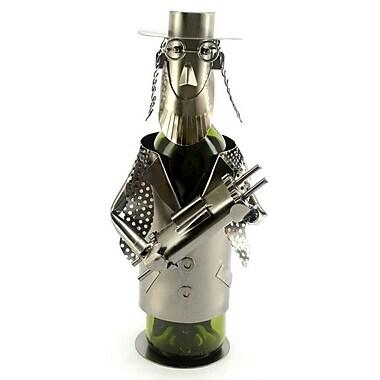 Three Star Rabbi w/ Torah 1 Bottle Tabletop Wine Rack