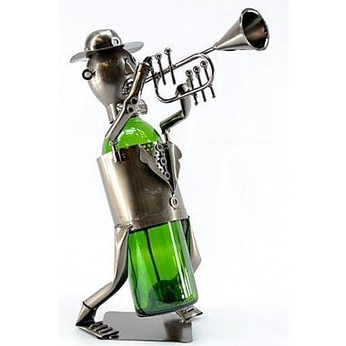 Three Star Trumpet Player 1 Bottle Tabletop Wine Rack