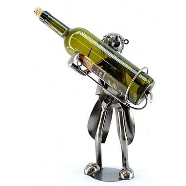 Three Star Old Waiter 1 Bottle Tabletop Wine Rack