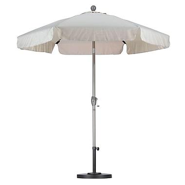 California Umbrella 7.5' Drape Umbrella; Spun Polyester Antique Beige