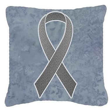 Caroline's Treasures Ribbon for Brain Cancer Awareness Indoor/Outdoor Throw Pillow