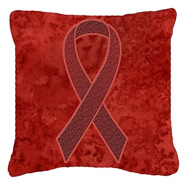 Caroline's Treasures Ribbon for Multiple Myeloma Cancer Awareness Indoor/Outdoor Throw Pillow