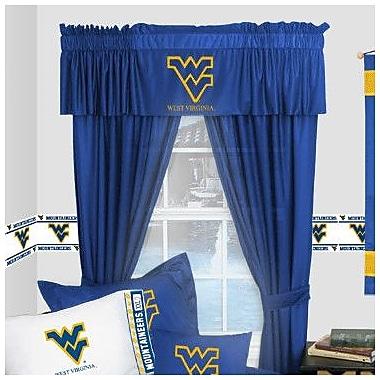 Sports Coverage NCAA West Virginia Mountaineers Rod Pocket Window Treatment Set (Set of 2)