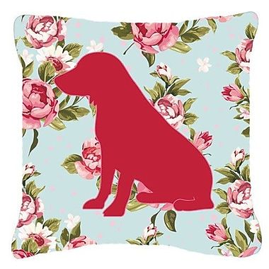 Caroline's Treasures Boykin Spaniel Shabby Elegance Blue Roses Indoor/Outdoor Throw Pillow