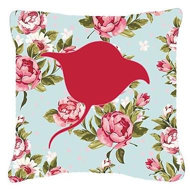 Caroline's Treasures Stingray Shabby Elegance Blue Roses Indoor/Outdoor Throw Pillow