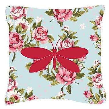 Caroline's Treasures Moth Shabby Elegance Blue Roses Indoor/Outdoor Throw Pillow