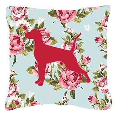 Caroline's Treasures Pointer Shabby Elegance Blue Roses Indoor/Outdoor Throw Pillow