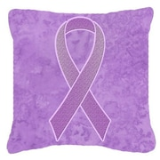 Caroline's Treasures Ribbon for All Cancer Awareness Indoor/Outdoor Throw Pillow
