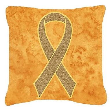 Caroline's Treasures Ribbon for Uterine Cancer Awareness Indoor/Outdoor Throw Pillow