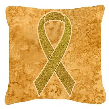 Caroline's Treasures Ribbon for Childhood Cancers Awareness Indoor/Outdoor Throw Pillow