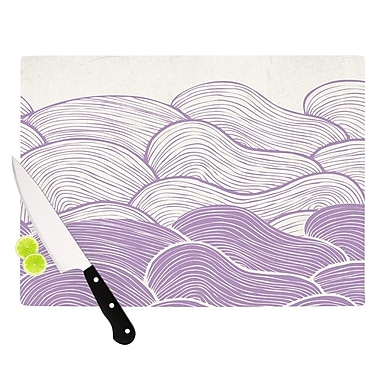 KESS InHouse The Lavender Seas by Pom Graphic Design Waves Cutting Board