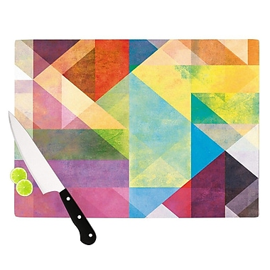 KESS InHouse Color Blocking II by Mareike Boehmer Rainbow Abstract Cutting Board