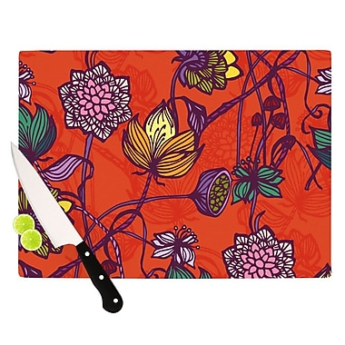 KESS InHouse Garden Blooms Hot Orange by Gill Eggleston Floral Cutting Board