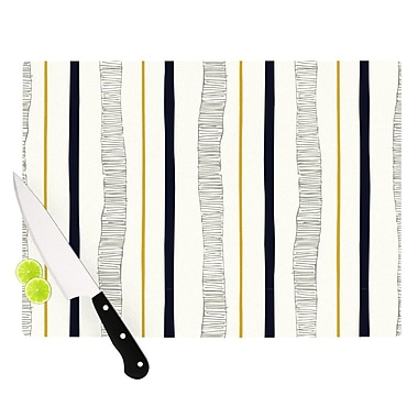 KESS InHouse Textured Stripes by Laurie Baars Abstract Lines Cutting Board
