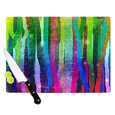KESS InHouse Jungle Stripes by Frederic Levy-Hadida Painting Cutting Board