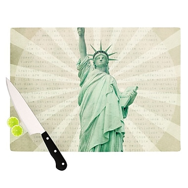 KESS InHouse The Lady by Catherine McDonald Statue of Liberty Cutting Board