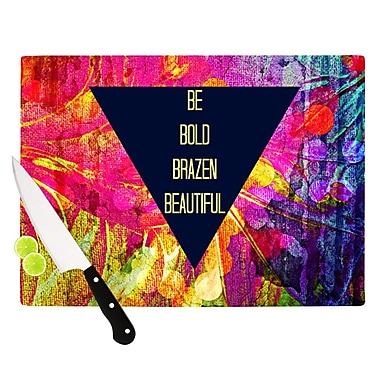 KESS InHouse Be Bold Brazen Beautiful by Ebi Emporium Rainbow Cutting Board