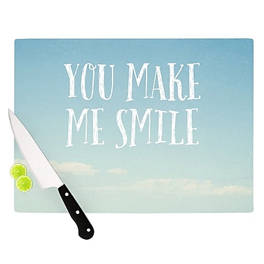 KESS InHouse You Make Me Smile by Susannah Tucker Beach Sky Cutting Board