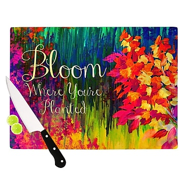 KESS InHouse Bloom Where You're Planted by Ebi Emporium Floral Cutting Board