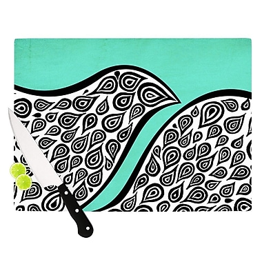 KESS InHouse Two Romantic Birds by Pom Graphic Design Abstract Cutting Board