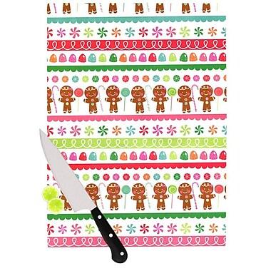 KESS InHouse Gumdrop Buttons by Heidi Jennnings Gingerbread Cutting Board