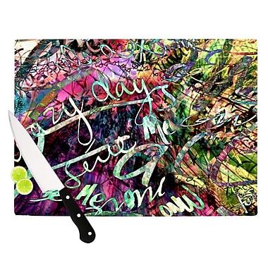 KESS InHouse Crazy Day by Gabriela Fuente Rainbow Abstract Cutting Board
