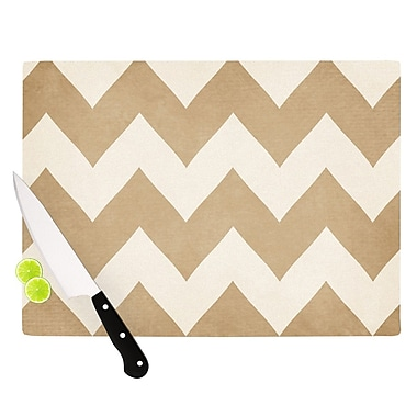 KESS InHouse Biscotti and Cream by Catherine McDonald Chevron Cutting Board