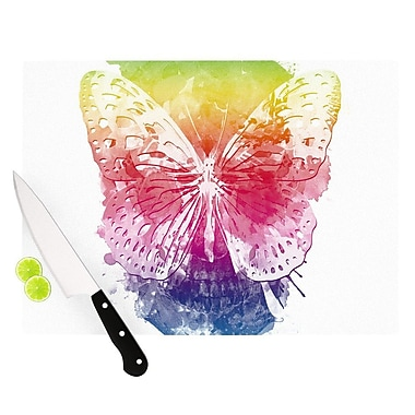 KESS InHouse Butterfly Skull by Frederic Levy-Hadida Rainbow Cutting Board