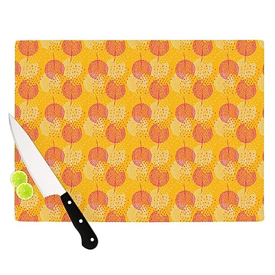 KESS InHouse Wild Summer Dandelions by Apple Kaur Designs Circles Cutting Board WYF078278137259