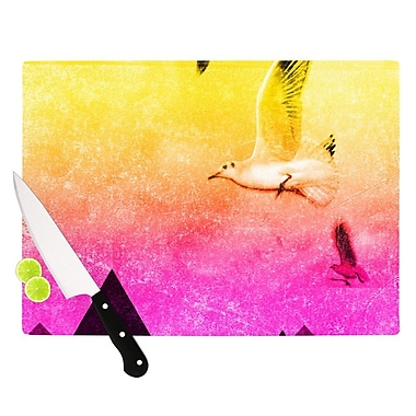KESS InHouse Seagulls in Shiny Sky by Frederic Levy-Hadida Cutting Board