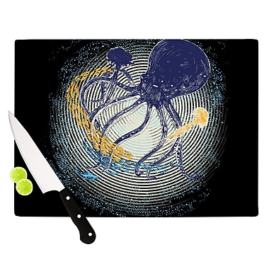 KESS InHouse Tentacular Trap by Frederic Levy-Hadida Octopus Cutting Board