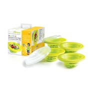 PrecisePortions Show 'N Tell 6 oz. Nutrition Start-Right Graduated 4 Piece Bowl Set