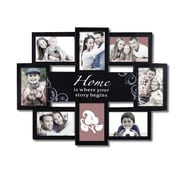 8 Opening Plastic Home is Where Your Story Begins Photo Collage Wall Hanging Picture Frame