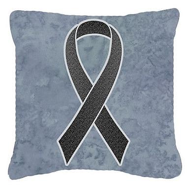 Caroline's Treasures Ribbon for Melanoma Cancer Awareness Indoor/Outdoor Throw Pillow
