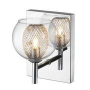 Z-Lite Auge 1-Light Wall Sconce; Halogen