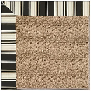 Capel Zoe Machine Tufted Onyx/Brown Indoor/Outdoor Area Rug; Rectangle 8' x 10'