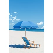 Frankford Umbrellas 7.5' Beach Umbrella; Capri Blue