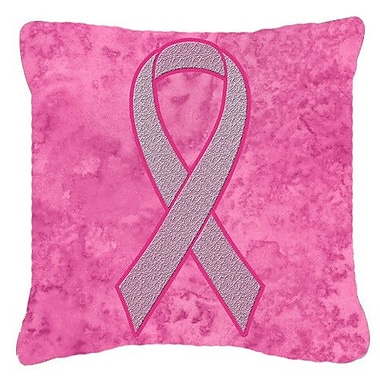Caroline's Treasures Ribbon for Breast Cancer Awareness Indoor/Outdoor Throw Pillow