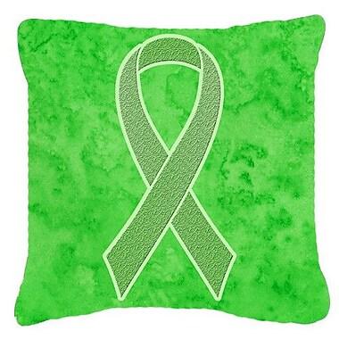 Caroline's Treasures Ribbon for Lymphoma Cancer Awareness Indoor/Outdoor Throw Pillow
